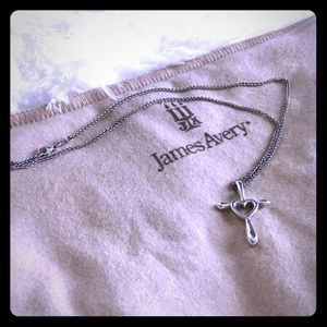 James Avery Cross Heart pendant with Necklace